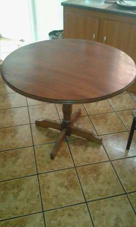 Solid wood round table with 4 chairs