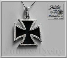 Srebrny wisior - duży Krzyż MALTAŃSKI kawalerski Ag 925 Jubiler Tychy