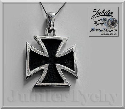 Srebrny wisior - duży Krzyż MALTAŃSKI kawalerski Ag 925 Jubiler Tychy Tychy - image 1