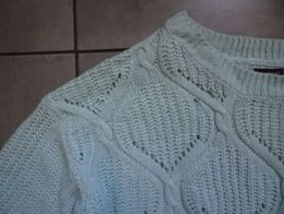 ATMOSPHERE miętowy sweter oversize 36 38 jak RESERVED MOHITO