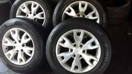 A set of 18 inch Ford Ranger mags rims & tyres for sale