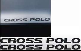 Pair off VW Polo Cross stickers decals