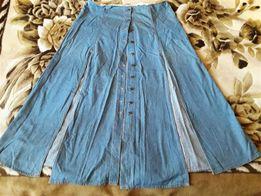 коллекция юбка джинсовая экстравагантная летняя длинная большой размер