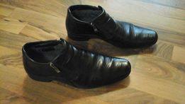 Продам кожаные мужские зимние ботинки 40-41р-.