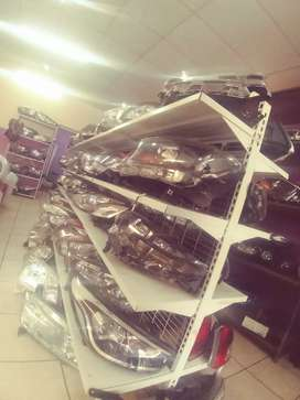 Head lights , bumpers, grills mirrors etc