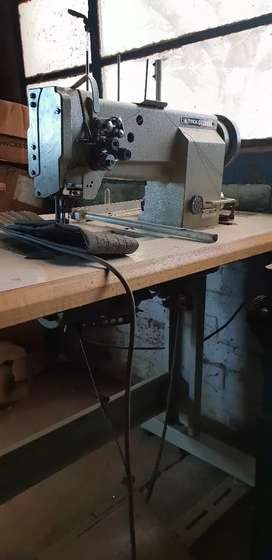 Typical double needle sewing machine