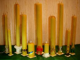 Свеча восковая катанная вощина воск пчелиный натуральный ручная работа