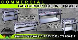 Commercial Gas Burners / Boiling Tables for any Commercial Kitchen