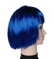 Каре, парик цветной, синий, красный, лиловый, голубой, фиолетовый