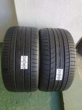 2 × 255 / 35 / 19 runflat continental tyres for sale