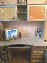 Стол письменный, стол компьютерный с надстройкой Пионер-С