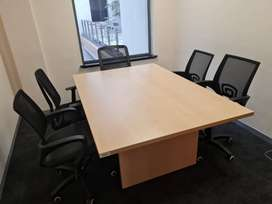 Pre Owned Boardroom Table and 6 Chairs