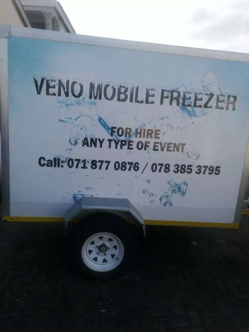 Mobile Freezer Trailer (For Hire R500/day) 0
