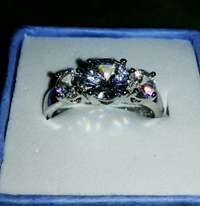 Image of Dazzling white gold ring