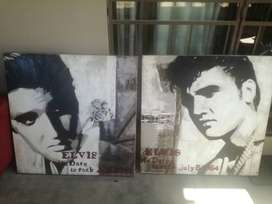Elvis Presley canvases 1m x 1m