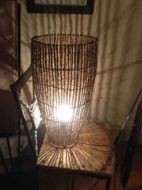 Image of Lamp made with wood barks