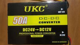 Преобразователь напряжения 24 в 12 V 50А Авто инвертор UKC конвертор