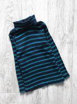 Зелёный чёрный гольф водолазка в полоску 110/116 H&M (Zara)