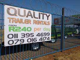 2020 Trailer Rentals Available For Only R240 Per Day