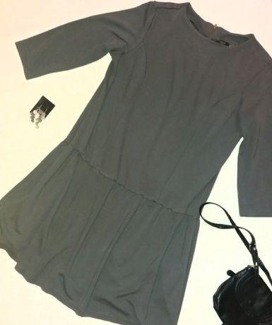 Платье серое, трикотажное, с заниженной талией 50 р Коломыя - изображение 3