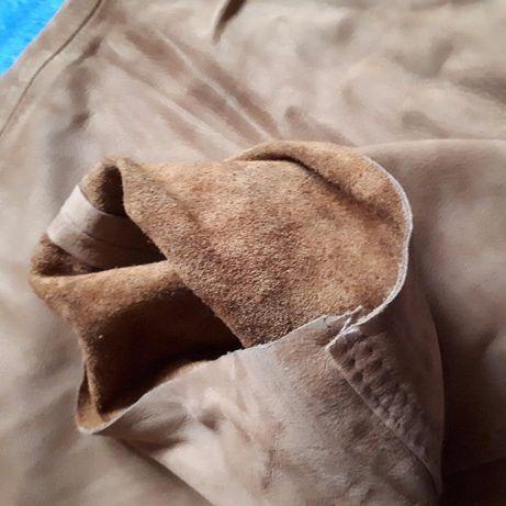 Nowe skórzane spodnie pięknie wyprawione piękny kolor rozmiar 30 Rzeszów - image 5