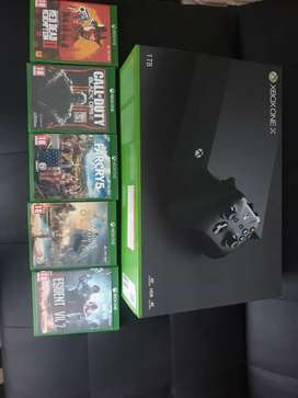 XBOX ONE X 5 games