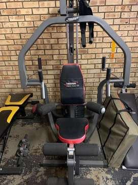 Trojan power stack like new and bench press