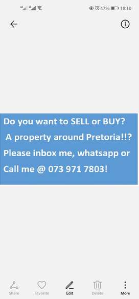Buying or selling property in Pretoria