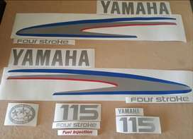 Yamaha four stroke outboard motor cowl graphics decals kits
