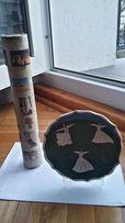 papirus i talerz ceramiczny