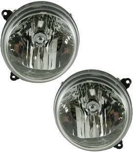 headlights Headlamps Left & Right Pair Set for 02-07 Jeep Liberty
