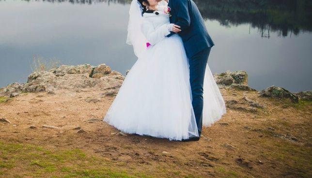 Шикарное свадебное платье с бантом и стразами Запорожье - изображение 5