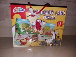 Nowe Puzzle 45 sztuk Duże Dinozaury Idealne na Prezent o wartości 35zł