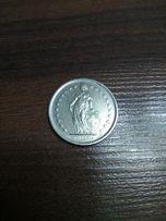 Монета 2Fr франка 1975 перевертыш