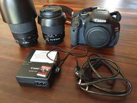 Canon EOS 600D with 2 lenses