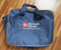DUŻA torba etui laptop bagaż podręczny zapinana granatowy 40x30cm