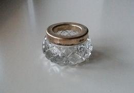 Продается солонка хрусталь, серебро, 50-е годы + подарок