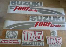 Suzuki 175 outboard motor cowl decals sticker kits