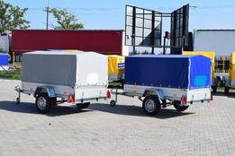 Przyczepy samochodowe lekkie każdy wymiar na resorach dmc 500kg gratis