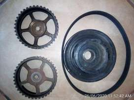 Ford Fiesta Crank and camshaft pulleys used