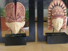 Интересные статуэтки панно из дерева. Индонезия