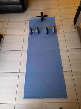 Ab Rollers and Exersise Mat for sale