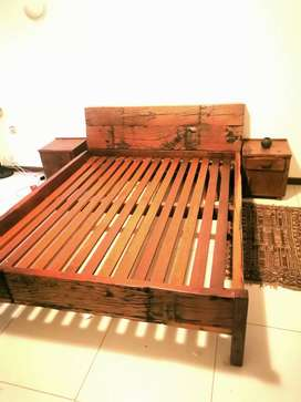 railway sleeper bed with pedestals for sale