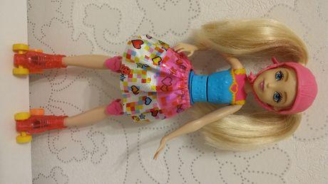 Lalka Barbie w świecie gier Barbie na wrotkach idealna Czeladź - image 1