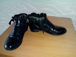 Демисезонные ботинки обувь подростковая, ботильоны для девочки