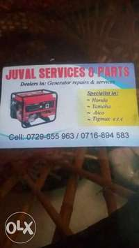 General services for Generators and maintenance. 0