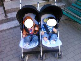 wózek spacerówka bliźniaczy
