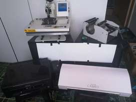 Heat Press with printer and Cutter