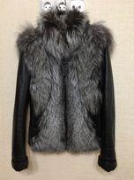 Продам кожаную куртку с натуральным мехом чернобурки
