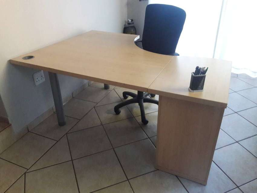 Office Furniture- Cluster desks, chairs, cabinet, table 0